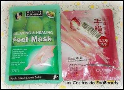 mascarilla calcetines pies beauty formulas y guantes manos hidratantes Rolanjona terminados