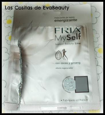 Mascarilla facial tissú energizante de gineng y cacao de FRIA