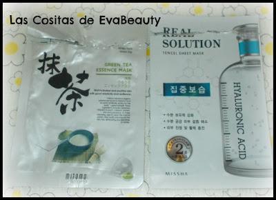 Mascarilla facial tissú té verde Mitomo y Ácido hialurónico de missha
