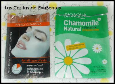 Mascarilla facial tissú limpiadora de MARION y de camomila y glicerina de BIOAQUA