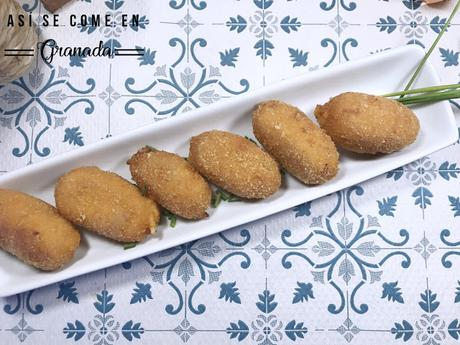 Croquetas de queso y sobrasada sin gluten