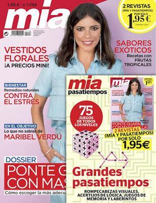 Revista femenina Mia y regalo julio 2020 noticias moda y belleza