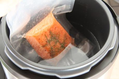 usando crock-pot para cocinar al vacío