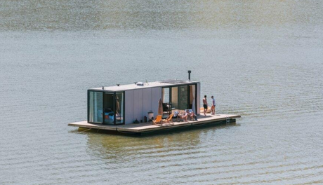 las casas prefabricadas flotantes waterlilliHaus en Brasil