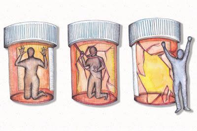 Una persona que le tema a caer en la acción, esta tan perdida como un adicto.