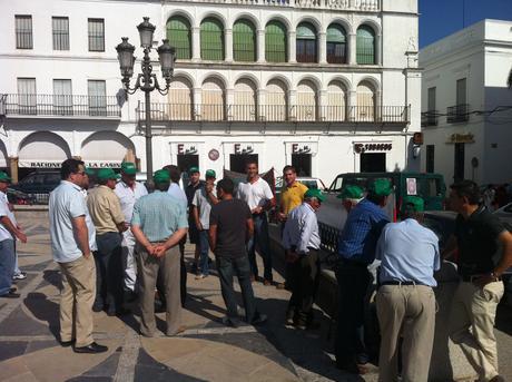 Namigran, agricultores de Llerena protestan por los impagos