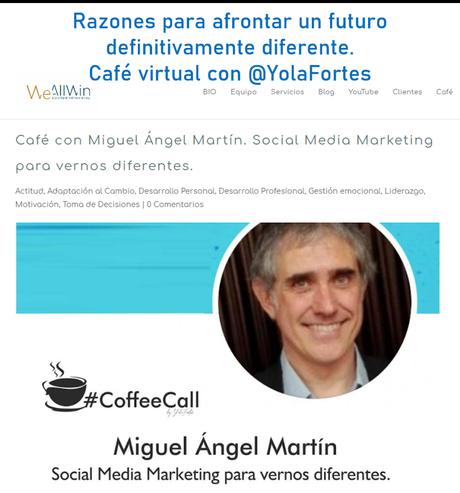 Razones para afrontar un futuro definitivamente diferente - café virtual con Yolanda Fortes