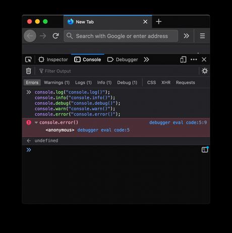 La consola de JavaScript