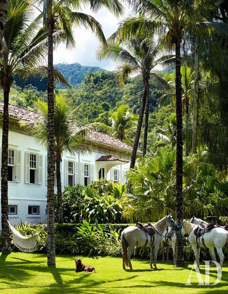 La casa de Lenny Kravitz en la selva brasileña