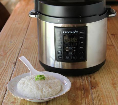 arroz blanco en crock-pot
