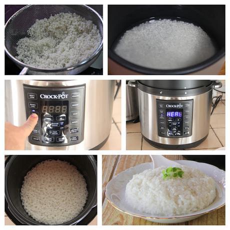 arroz blanco en crock pot pasos