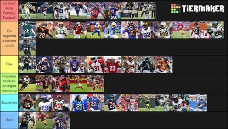Rankings de RB de Fantasy Football para la Temporada NFL 2020