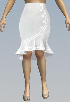 Juvenil Faldas Ala Rodilla Pegadas Elegantes