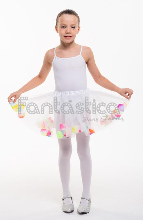 Falda Tul Blanca Para Nina