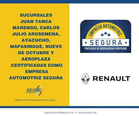 """RENAULT RECIBE CERTIFICADO COMO """"EMPRESA AUTOMOTRIZ SEGURA"""""""