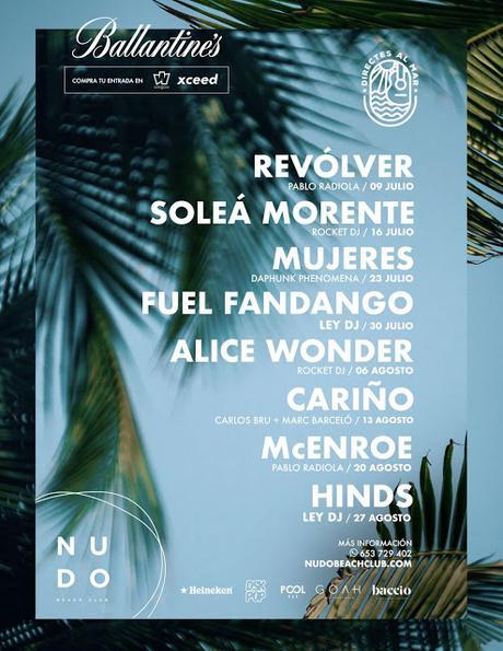 Directes al Mar, ciclo en Castellón con Fuel Fandango, Hinds, Cariño, Soleá Morente, Mujeres, Alice Wonder, McEnroe, Revólver...