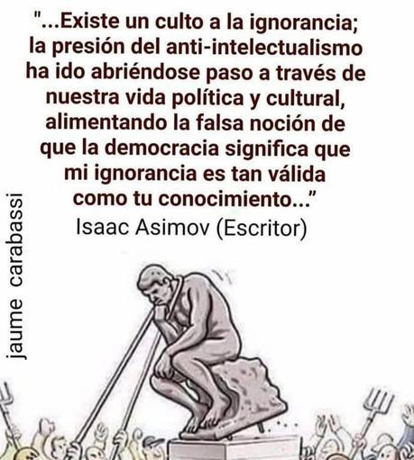 Isaac Asimov: El Culto a la Ignorancia