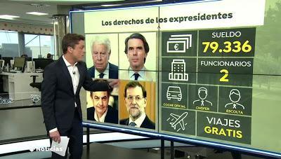 Más de 419.000 firmas para anular las pensiones vitalicias a los expresidentes.