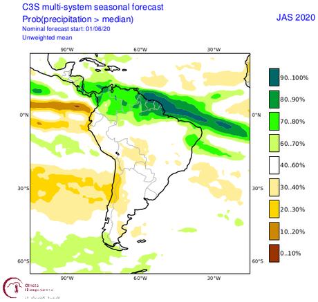 ¿Qué nos espera para este trimestre con respecto a las lluvias en nuestra región? Pronóstico de las precipitaciones para los meses julio, agosto y septiembre