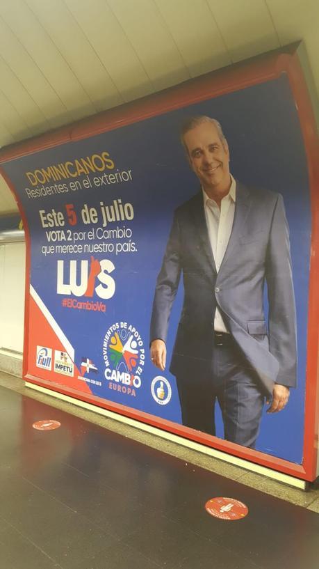 Las elecciones presidenciales de República Dominicana, en las calles de Madrid