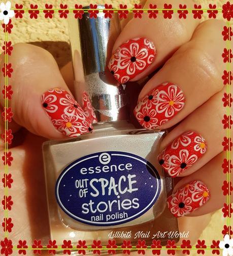 Reto Esmaltando Challenge: Color (Flores rojas holográficas)