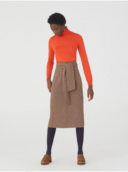 Falda Con Textura De Cuadros