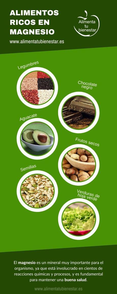 Alimentos ricos en magnesio. ¿Cuáles son?