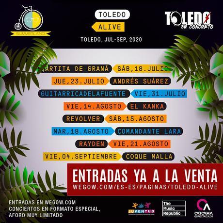 Toledo Alive: Coque Malla, Guitarricadelafuente, Rayden, Revólver, El Kanka, Andrés Suárez...