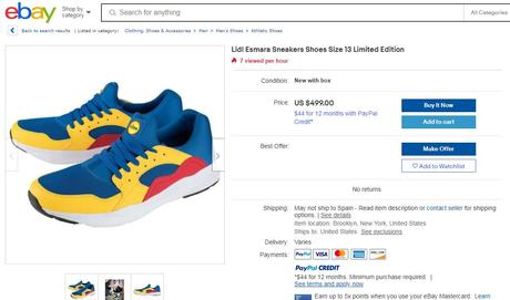Así son las zapatillas que Lidl venderá en España por 12,99€ y por las que se han pagado hasta 1000€ en Ebay