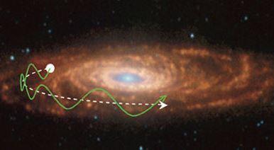 La enorme velocidad de la galaxia NGC 7513, candidata a la formula 1 galáctica