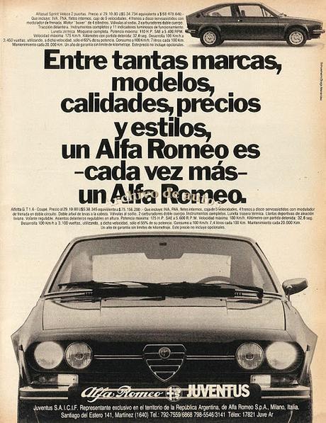 Los Alfa Romeo importados en 1980
