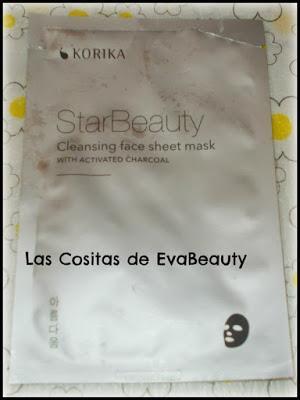 mascarilla facial limpiadora carbón activo KORIKA cosmética coreana en notino