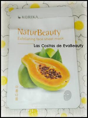 mascarilla facial exfoliante de papaya korika cosmetica coreana notino