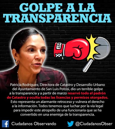 Ayuntamiento de SLP decide ocultar el padrón Catastral: un golpe a la transparencia