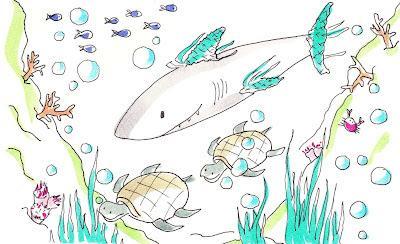 Cuento de un tiburón que quería aprender a nadar