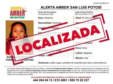 Alerta Amber: Desaparece niña de 12 años en la capital potosina