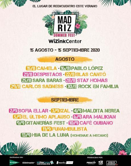 Madriz Summer Fest en el WiZink Center: IZAL, Carlos Sadness, Camela, Despistaos, Pablo López, Ara Malikian, Maldita Nerea...