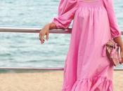Vestido rosa chicle