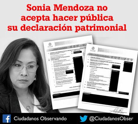 Diputada Sonia Mendoza no acepta hacer pública su declaración patrimonial