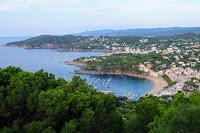 Impresionante panorámica de las playas  Palafrugell