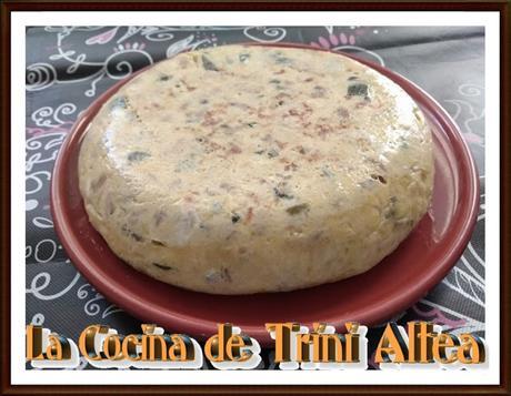 TORTILLA DE CALABACINO, SETAS, CHAMPIÑONES Y QUESO
