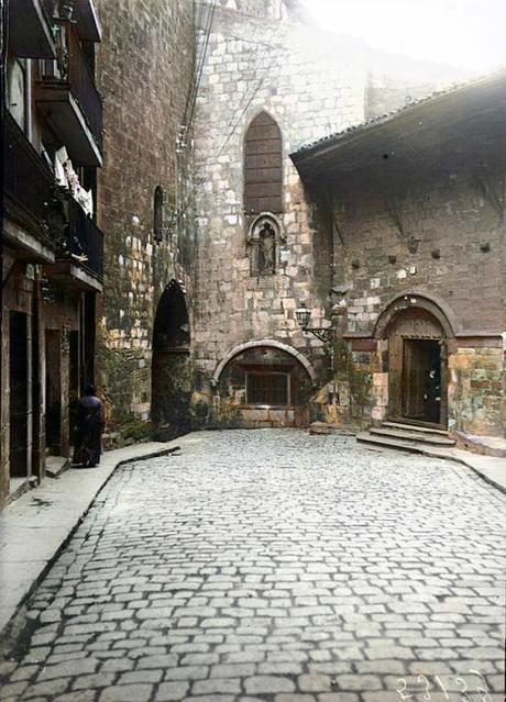 1918: entrada a la Catedral por Ruamayor