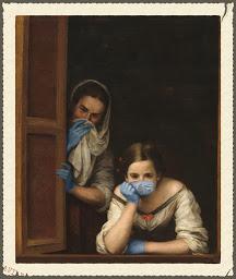 Mona Lisa usa mascarilla.