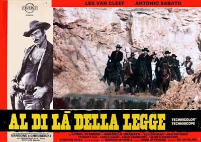 MÁS ALLÁ DE LA LEY (Al di là della legge) (Italia, Alemania del Oeste; 1968) Western Europeo
