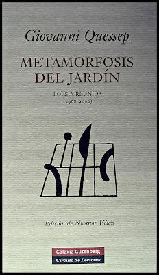 """GIOVANNI QUESSEP; """"METAMORFOSIS DEL JARDÍN""""."""
