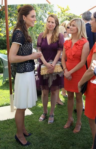 Kate middleton catherine duchess of cambridge meets actress reese