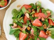 Ensalada espinaca fresas almendras
