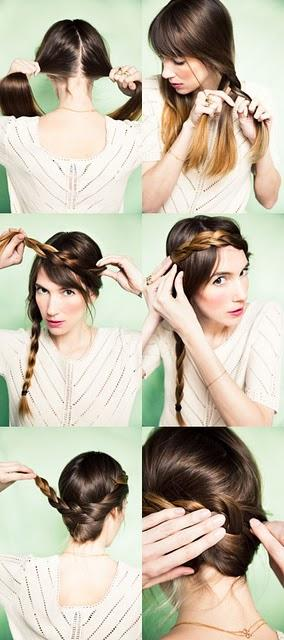 Tutorial peinado con trenzas para la novia paperblog - Tutorial de peinados ...
