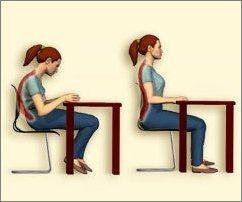 Evita los problemas de espalda con una buena postura for Sillas para una buena postura