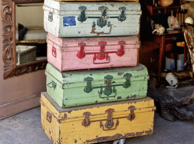 Maletas antiguas paperblog for Maletas vintage decoracion